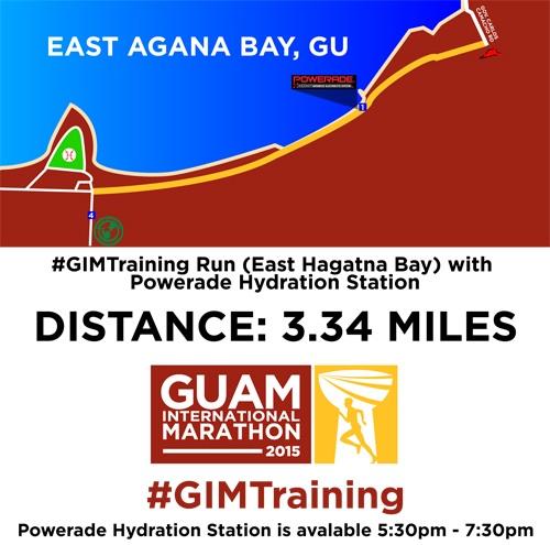 E. Agana Bay course