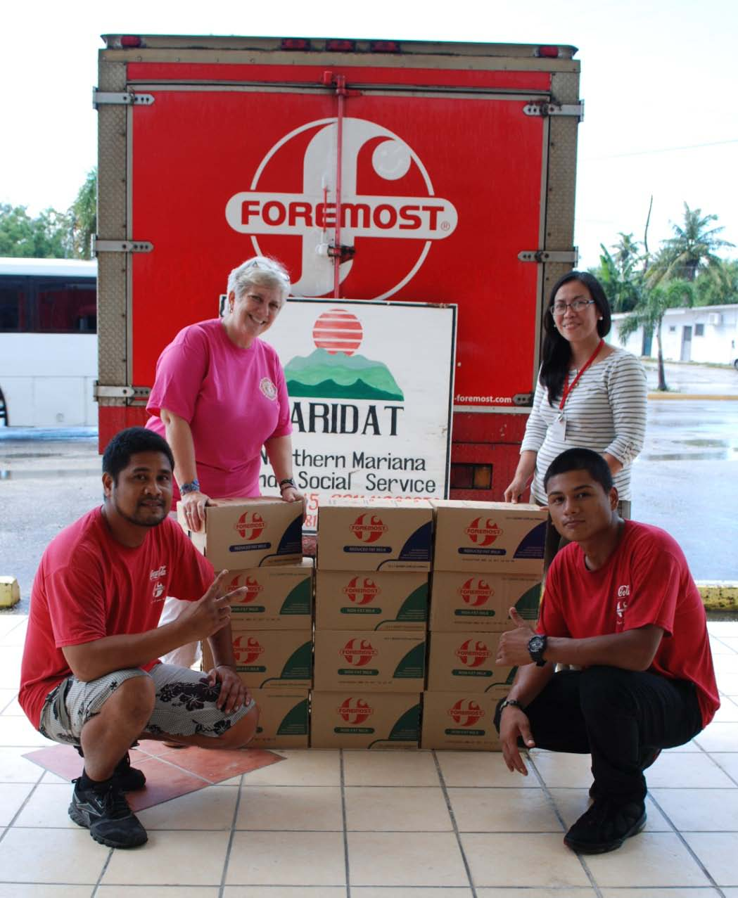 FOREMOST DONATES 200 CASES OF MILK 2