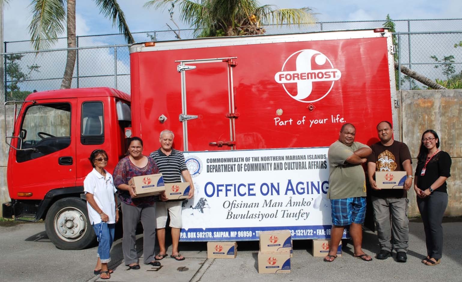 FOREMOST DONATES 200 CASES OF MILK