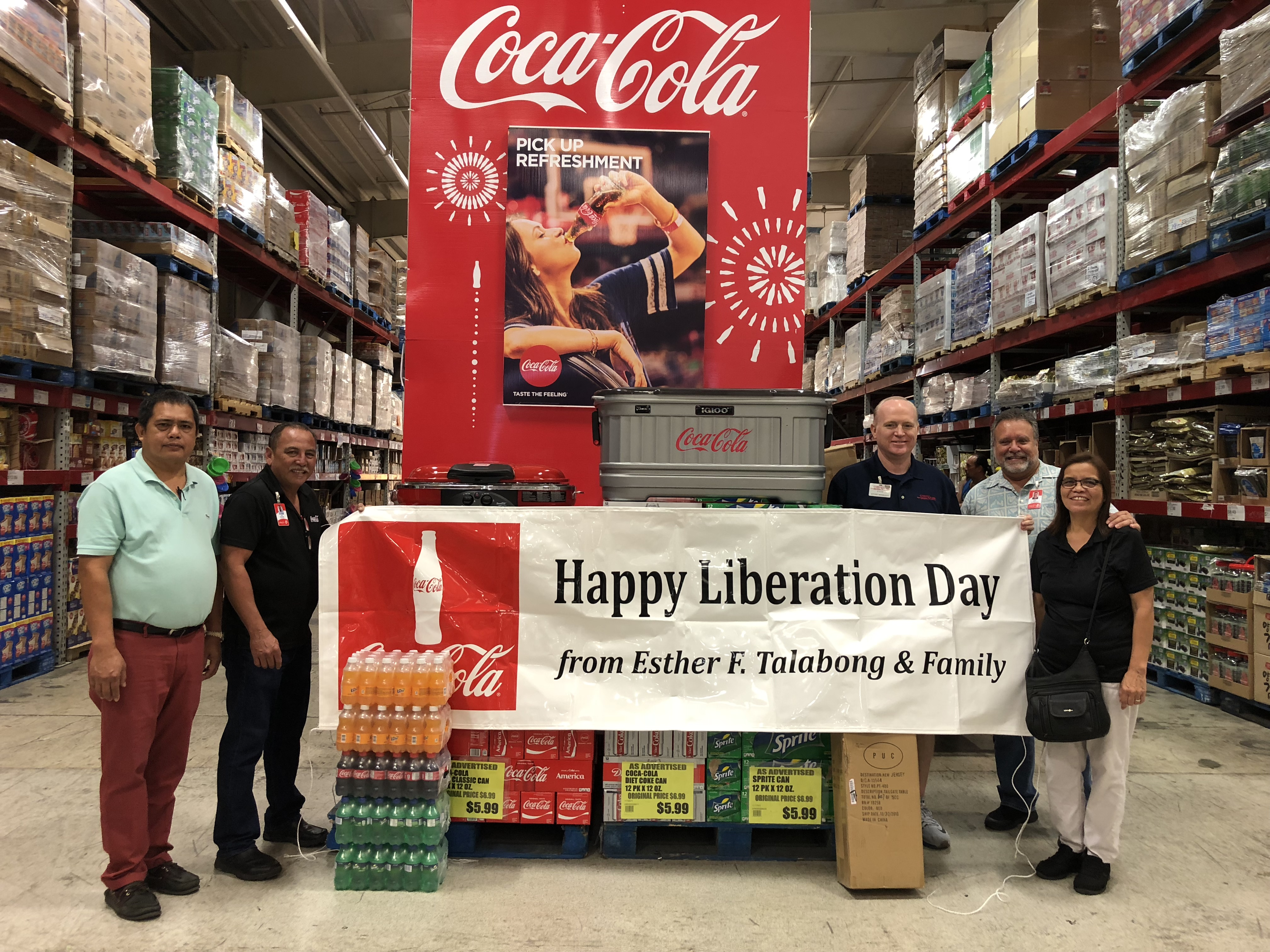 Coca-Cola gives away Liberation Party package<br>to three winners