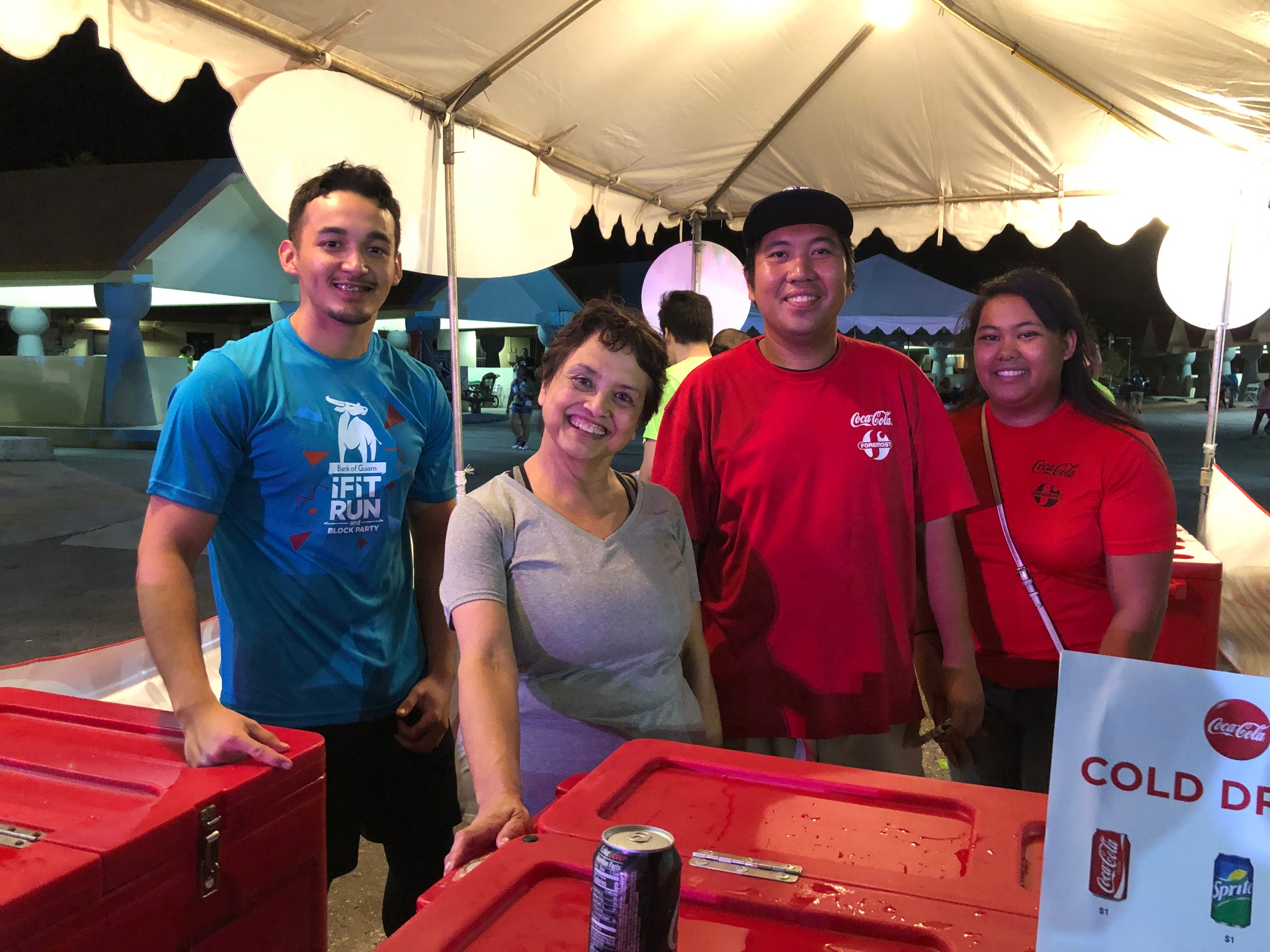 Coca-Cola and Powerade hydrate <br>Bank of Guam Block Party and Ifit Race