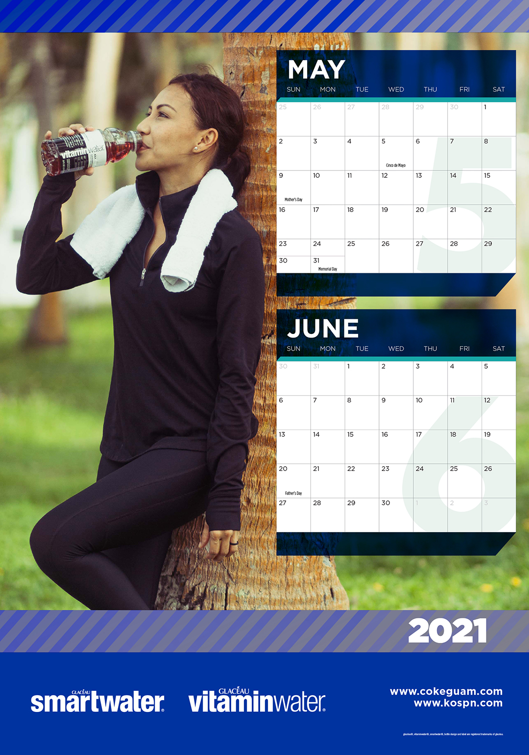 5-20111 Coke 2021 Calendar JAN-JUN