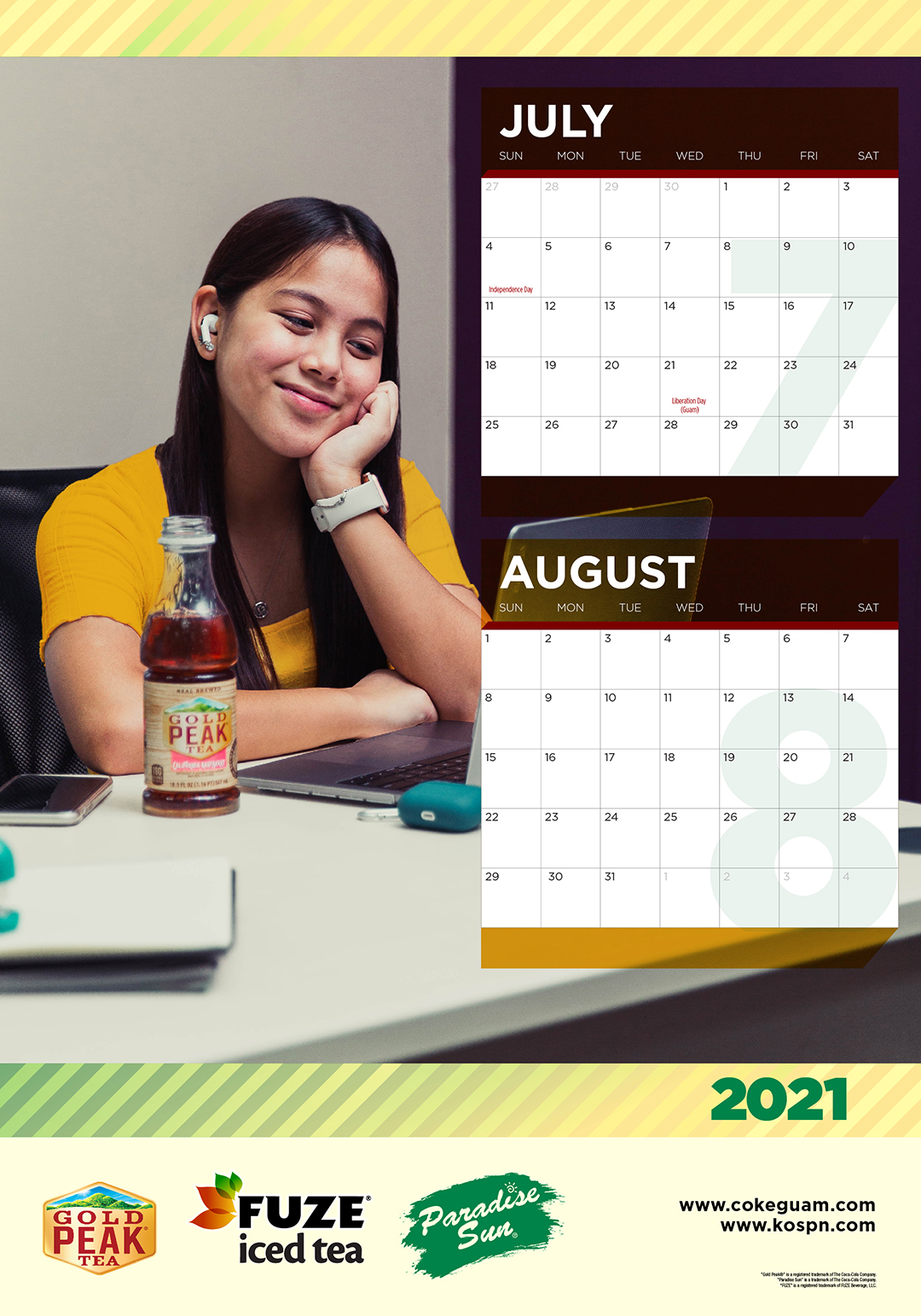 5-20111 Coke 2021 Calendar JULY-DEC